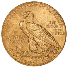 1909 S $5 MS reverse