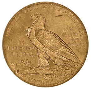 1911 S $5 MS reverse
