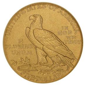 1912 $5 PF reverse