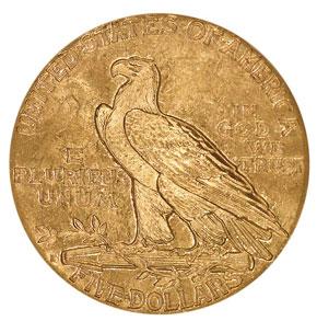 1912 S $5 MS reverse