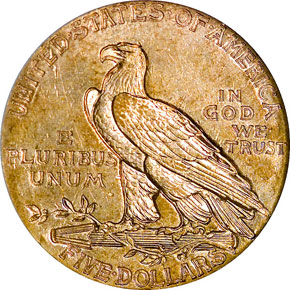 1913 S $5 MS reverse