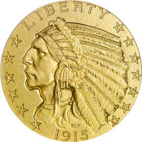 1915 $5 PF obverse