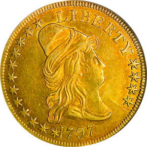 1797 SMALL EAGLE $10 MS obverse