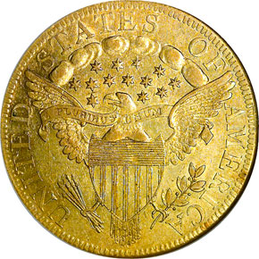 1797 LARGE EAGLE $10 MS reverse