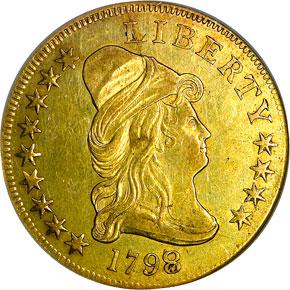 1798/7 STARS 9X4 $10 MS obverse