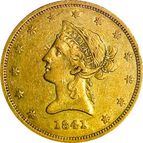 1841 $10 MS obverse