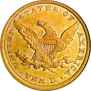 1852 $10 MS reverse