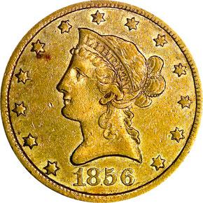 1856 $10 MS obverse
