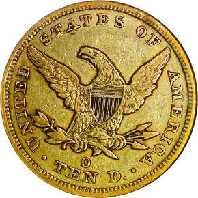1856 O $10 MS reverse