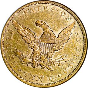 1859 $10 MS reverse