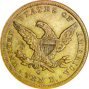1859 O $10 MS reverse