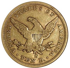1865/INV 186 S $10 MS reverse
