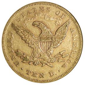 1870 $10 MS reverse