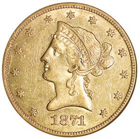 1871 CC $10 MS obverse