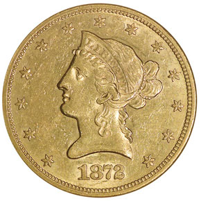 1872 S $10 MS obverse