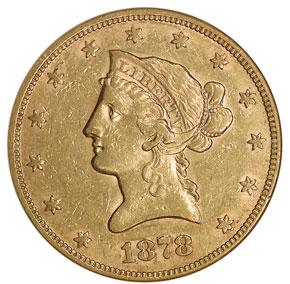 1878 $10 MS obverse