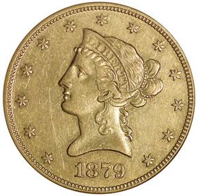 1879 O $10 MS obverse