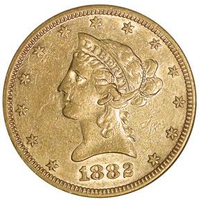 1882 S $10 MS obverse