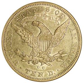 1883 CC $10 MS reverse