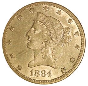 1884 CC $10 MS obverse