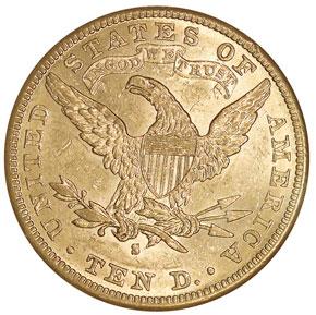 1884 S $10 MS reverse