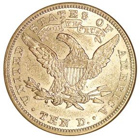 1885 $10 MS reverse