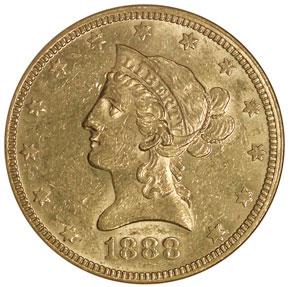 1888 O $10 MS obverse