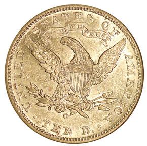 1888 O $10 MS reverse