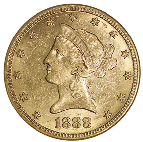 1888 S $10 MS obverse