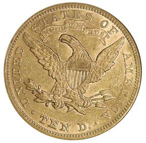 1890 $10 MS reverse