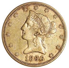 1896 $10 MS obverse
