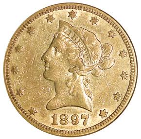 1897 S $10 MS obverse