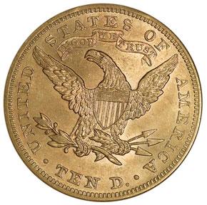 1899 $10 MS reverse