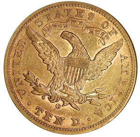 1903 O $10 MS reverse