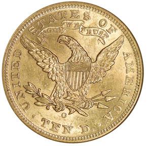 1904 O $10 MS reverse