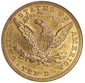 1905 $10 MS reverse