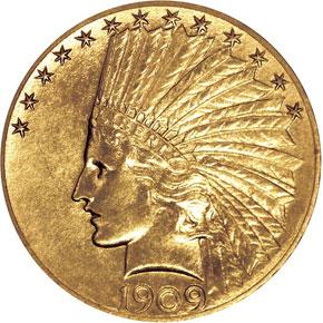 1909 $10 PF obverse