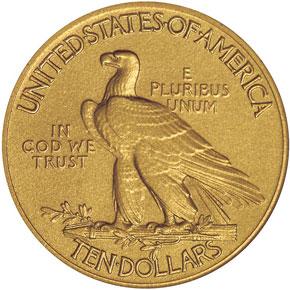 1913 $10 PF reverse