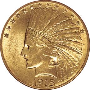 1915 S $10 MS obverse