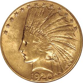1920 S $10 MS obverse