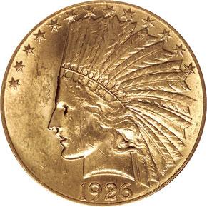 1926 $10 MS obverse