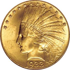 1933 $10 MS obverse