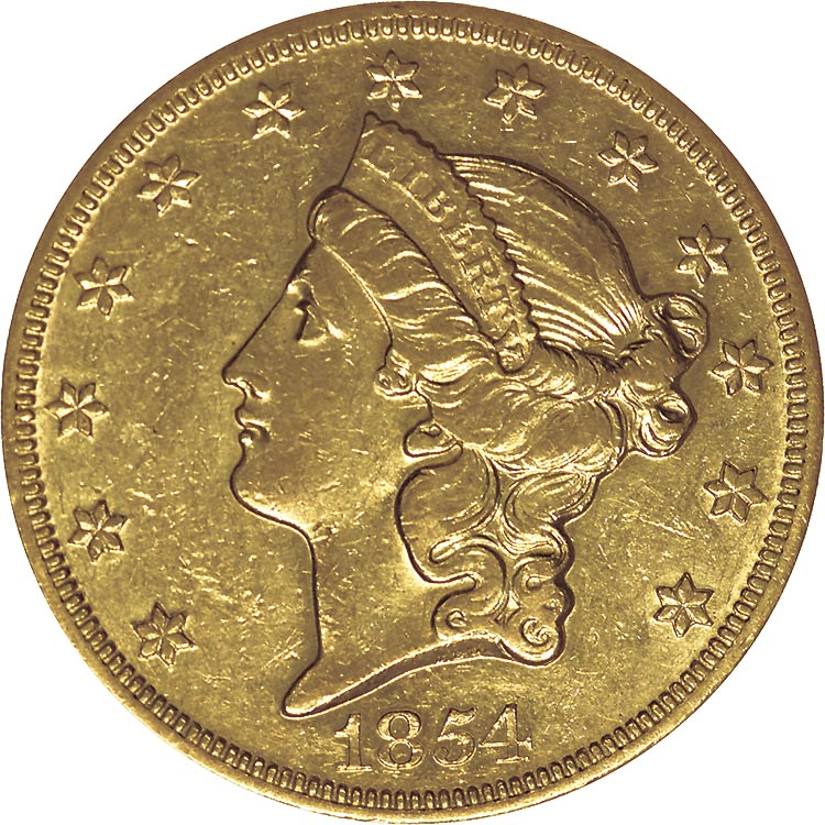 1854 Liberty Head $20 Gold Coin Value | JM Bullion™