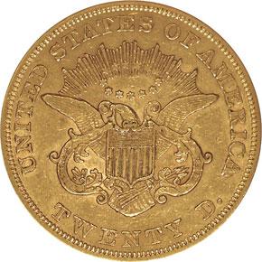 1855 $20 MS reverse