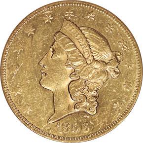 1856 $20 MS obverse