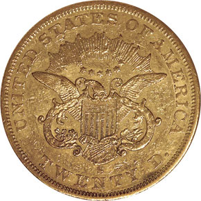 1856 S $20 MS reverse