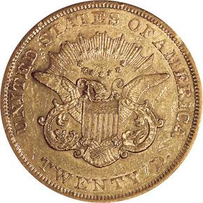 1858 $20 MS reverse
