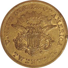 1862 $20 MS reverse