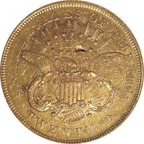 1870 CC $20 MS reverse