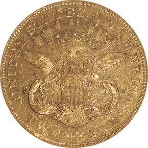1871 CC $20 MS reverse